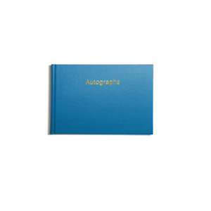 Pirongs Gold-Edged Autograph Book - Available in Choice of 11 Cover Colours