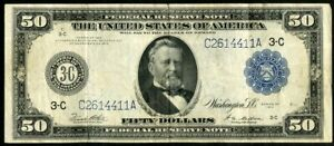 US Paper Money 1914 $50 Large Sized Federal Reserve Note NO RESERVE!