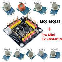 Gas Detection Alarm Sensor Module MQ-2 3 4 5 6 7 8 9 135 +Pro Mini 5V Controller