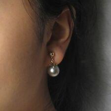 14k Yellow Gold & Gold Fill Clip Tahitian Pearl Non Pierced Dangle Earrings TPJ