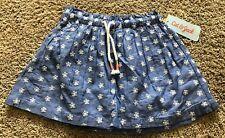 NWT Girls Blue Cat & Jack Skirt Small 6/6X