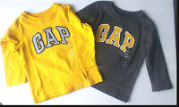babyGap Infant Toddler Boys Long Sleeve Shirt Yellow or Gray 18-24M or 5T NWT