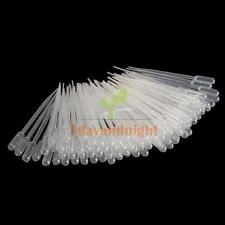 100Pcs 2ml Graduated Disposable Pasteur Plastic Eye Dropper Set for Experiment