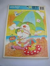 LITTLE DUCK'S BEACH TOYS Golden Vintage Frame-Tray Puzzle 1979 Easter 12 Pieces