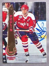 Dave Poulin Washington Capitols 1994-95 Pinnacle Signed Card