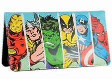 Marvel Superhero Iron Man Hulk Wolverine Captain Bi-fold Leather Retro Wallet