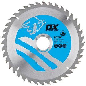 OX TCTW Wood Cutting Circular Saw Blade Tungsten Tips - All Sizes