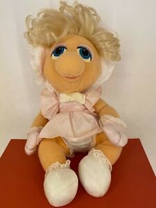 Vintage Hasbro Softies - 1983 - Muppet Babies - Baby Miss Piggy Soft Toy Plush