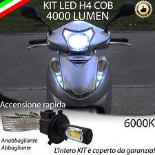 KIT LAMPADA LED H4 COB 4000 LUMEN 6000K 12V PER HONDA SH 300 ULTRALUMINOSA