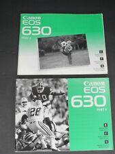 Canon Eos 630 Camera Part 1 & 2 Instruction Book / Manual / User Guide
