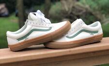 Vans Old Skool Pro Marshmallow Alpine Seude White Green Gum Shoes Men's Size 12