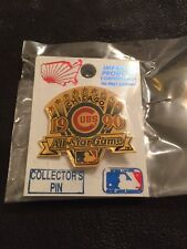 MLB Chicago Cubs Collector Pin~Vintage~All Star Game~1990~Gold Tone~New On Card