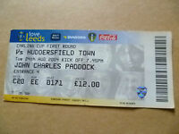 Ticket- LEEDS UNITED v HUDDERSFIELD TOWN, Carling Cup 1st RD, 24 august 2004