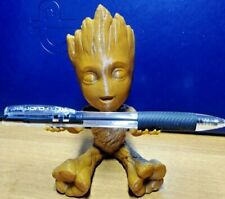 """BABY GROOT - BROWN - PEN & RING HOLDER - 5"""" HIGH QUALITY 3D PRINTED"""