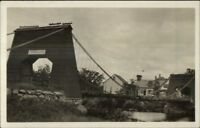 Kingfield ME Bridge c1910 Real Photo Postcard #2