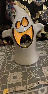 Halloween Tea Light Holders Ghost Ceramic