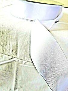 Kirkland Signature Wire Edged Ribbon White Satin  3.8cm  wide 2,4,5,10m