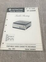 Hitachi VT-6500E  Trouble Shooting service manual For Portable VCR