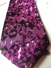 """COCKTAIL EXPRESSIONS for madd """"Beer"""" 100% SILK NECK TIE Purple Black NWT $55"""