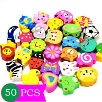 50 Pcs Mseeur Assorted Adorable Collection Pencil Top Erasers,Eraser Caps Style