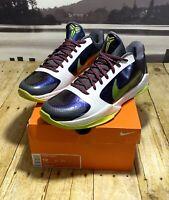 Nike Zoom Kobe 5 V Chaos Joker Purple White Green 386429-531 Size 12 NOT PROTRO