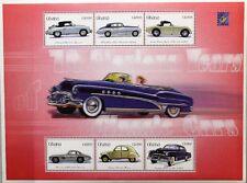 GHANA 2001 3269-84 Block 411-12 BELGICA 01 Classic Vintage Cars Autos Oldtimer