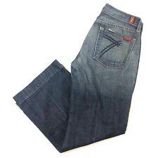 """7 Seven For All Mankind DOJO sz 27 Wide Leg 26"""" INSEAM Women's Denim Jeans Pants"""