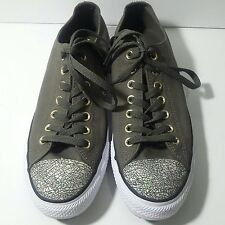 Converse All Star Size 11 Oil Slick Toe Cap Trainers Shoes Chucks Green Womens