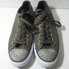 Womens Converse All Star Sz 11 Oil Slick Toe Cap Trainers Shoes Chucks Green