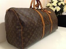 Authentic Louis Vintage Vuitton Keepall 60. Overnight Bag RRP £980. VG Cond