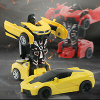 For Kids 1:32 Pull Back The Collision Car Children Deformation Car Robot Toy UK