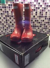 *Hunter Short RED Wellies Size 6 EU39