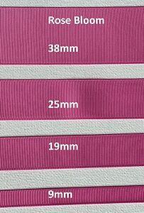 Grossgrain Ribbon - 9mm - 19mm - 25mm - 38mm - Rose Bloom Pink