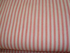 """ONE YARD FEATHER GUARD TICKING 1/4"""" STRIPE COTTON FABRIC PINK WHITE 45"""" x 36 BTY"""