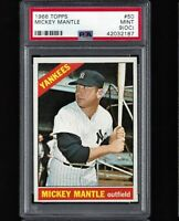 ⚾ 1966 Topps MICKEY MANTLE #50 PSA 9 MINT 1 Higher CENTERED L/R L@@K! +1952 RE
