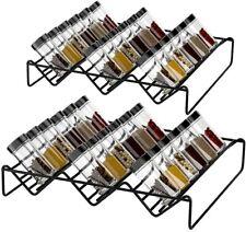 Gewürzhalter für Schubladen aus Metall 2er 2 Größen ausziehbar Gewürzregale Deco