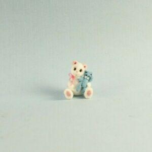 OOAK~Bear~Blue Teddy~Mini~Handmade~Artist Doll~BabyToy~Dollhouse~Cheryl Brown