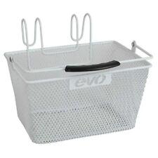 "Evo E-Cargo Lift-Off Steel Mesh Bicycle Handlebar Basket White 9.5 x 6.7 x 5.2"""