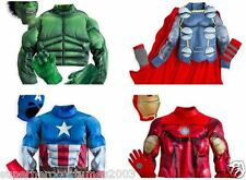 Avengers Disney Store Exclusive Costume Play Set 4 Iron Man Thor Size 7-8 NEW