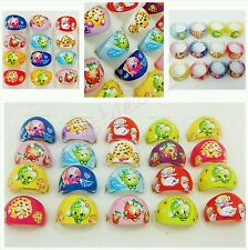12 Shopkins Cup Cake Rings Topper Kid Party Goody Loot Bag Filler Favor Sup