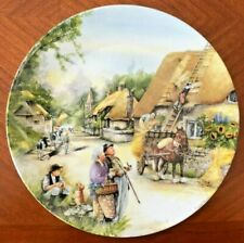 Royal Doulton Collector Plate; Old Country Crafts; The Thatcher by Susan Neale