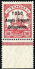 007)Togo BB Nr 3 I  UR **,  10 Pfg. Schiffe mit englischem Aufdr., postfrisch!!