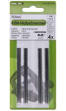 4x Hartmetall Hobelmesser 75,5 für Black & Decker DN750 SR600 K BD75 KW750 / B37
