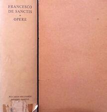 FRANCESCO DE SANCTIS OPERE A CURA DI NICCOLò GALLO RICCARDO RICCIARDI 1961
