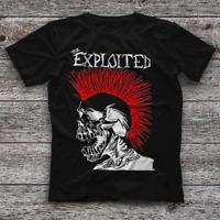 Reprint The Exploited Black Unisex Short Sleeve New T-Shirt S-234XL F664