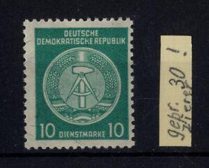 DDR, Dienst A, Nr. 30 y II XII postfrisch, geprüft Zierer BPP [15472