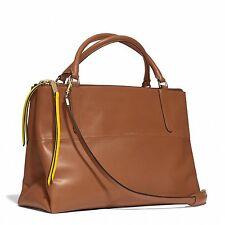 Coach Edgepaint Leather 30982 Walnut/Sunglow Shoulder Brough Handbag MSRP $598