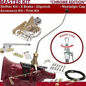 C4 Shifter Kit 23 Swan E Brake Cable Clamp Clevis Trim Kit Dipstick For F784C
