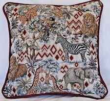 tropical african animal throw pillow square tapestry decorative kid's room