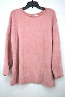 Christopher & Banks Womens Pink Sweater Crew Neck Soft Knit Construction XL